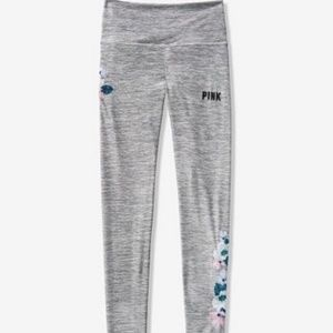 VS PINK Ultimate High Waist Embroidered Leggings